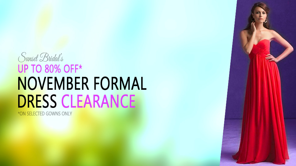 November formal dress clearance